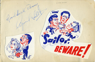 CYRIL SMITH - AUTOGRAPH NOTE SIGNED