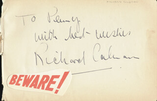 RICHARD (RONALD) COLEMAN - AUTOGRAPH NOTE SIGNED CO-SIGNED BY: ANN WILTON, HENRYETTA EDWARDS