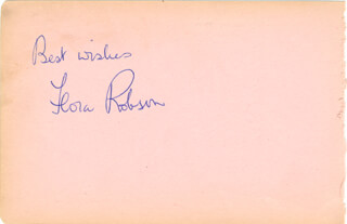 DAME FLORA ROBSON - AUTOGRAPH SENTIMENT SIGNED CO-SIGNED BY: JIMMY EDWARDS