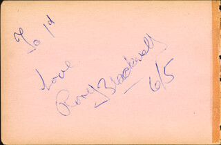 RORY BLACKWELL - AUTOGRAPH NOTE SIGNED 06/05 CO-SIGNED BY: IAN CARMICHAEL
