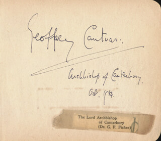 Autographs: GEOFFREY (BARON FISHER OF LAMBETH) FISHER - SIGNATURE(S) 10/1954