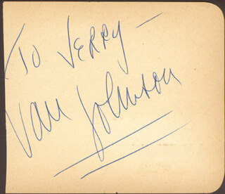 VAN JOHNSON - INSCRIBED SIGNATURE
