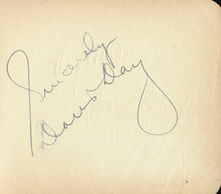 DORIS DAY - AUTOGRAPH SENTIMENT SIGNED