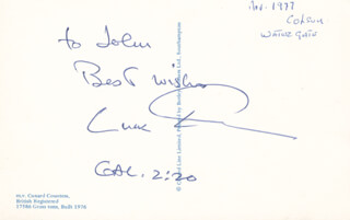 CHARLES CHUCK COLSON - AUTOGRAPH NOTE SIGNED CIRCA 1977