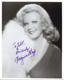 VIRGINIA MAYO - AUTOGRAPHED INSCRIBED PHOTOGRAPH