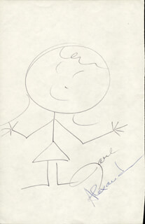Autographs: JANE ALEXANDER - SELF-CARICATURE SIGNED