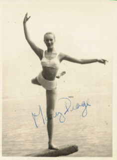 MARY DRAGE - AUTOGRAPHED SIGNED PHOTOGRAPH