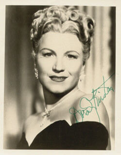 DOROTHY KIRSTEN - AUTOGRAPHED SIGNED PHOTOGRAPH