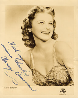 NANCY DONOVAN - AUTOGRAPHED SIGNED PHOTOGRAPH