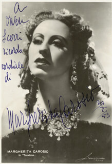 MARGHERITA CAROSIO - AUTOGRAPHED INSCRIBED PHOTOGRAPH 02/07/1953