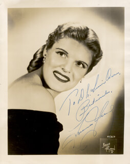 FRANCES YEEND - AUTOGRAPHED INSCRIBED PHOTOGRAPH