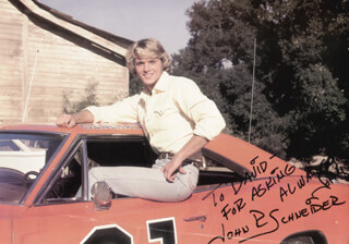 JOHN SCHNEIDER - AUTOGRAPHED INSCRIBED PHOTOGRAPH