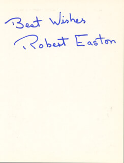 ROBERT EASTON - AUTOGRAPHED SIGNED PHOTOGRAPH