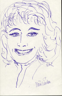 MARIE WINDSOR - SELF-CARICATURE SIGNED