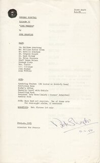 DICK SHARPLES - SCRIPT SIGNED 02/12/1980