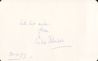 CELIA JOHNSON - AUTOGRAPH SENTIMENT SIGNED 01/31/1977