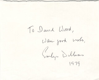 EMLYN WILLIAMS - AUTOGRAPH NOTE SIGNED 1979