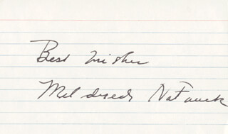 MILDRED NATWICK - AUTOGRAPH SENTIMENT SIGNED