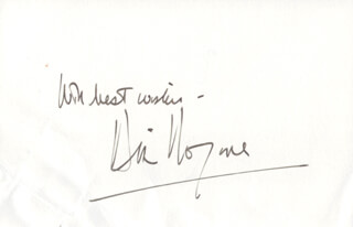 DIRK BOGARDE - AUTOGRAPH SENTIMENT SIGNED