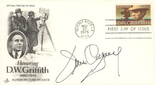 JAMES CAGNEY - FIRST DAY COVER SIGNED