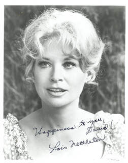 LOIS NETTLETON - AUTOGRAPHED INSCRIBED PHOTOGRAPH