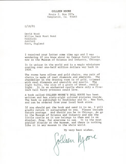 COLLEEN MOORE - TYPED LETTER SIGNED 02/18/1981
