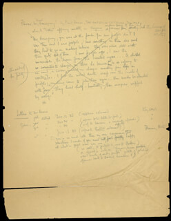 ERNEST PAPA HEMINGWAY - THIRD PERSON AUTOGRAPH DOCUMENT