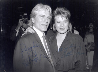 ADAM FAITH - AUTOGRAPHED SIGNED PHOTOGRAPH CO-SIGNED BY: LETITIA DEAN