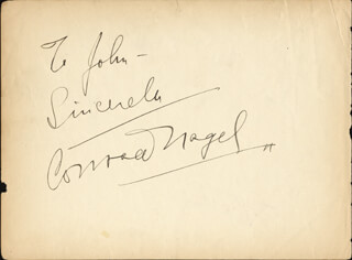 CONRAD NAGEL - AUTOGRAPH NOTE SIGNED CO-SIGNED BY: BLANCHE SWEET