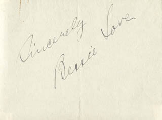 BESSIE LOVE - AUTOGRAPH SENTIMENT SIGNED