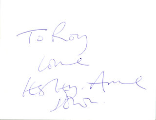 LESLEY-ANNE DOWN - AUTOGRAPH NOTE SIGNED