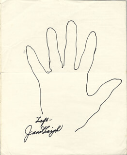 JANET LEIGH - HAND/FOOT PRINT OR SKETCH SIGNED