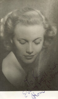 HONOR BLACKMAN - INSCRIBED PICTURE POSTCARD SIGNED