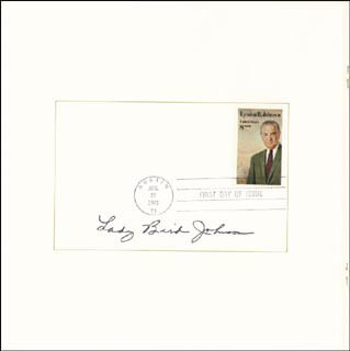 FIRST LADY LADY BIRD JOHNSON - PROGRAM SIGNED