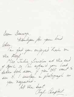 CHERYL CAMPBELL - AUTOGRAPH LETTER SIGNED