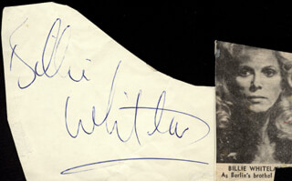 BILLIE WHITELAW - AUTOGRAPH