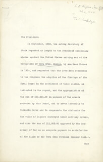 CHIEF JUSTICE CHARLES E HUGHES - TYPED LETTER SIGNED 02/04/1924