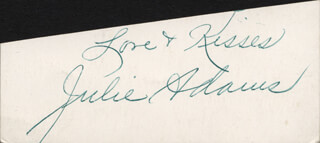 JULIE ADAMS - AUTOGRAPH SENTIMENT SIGNED