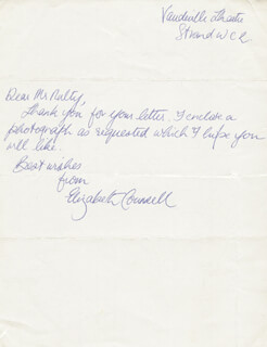 ELIZABETH COUNSELL - AUTOGRAPH LETTER SIGNED