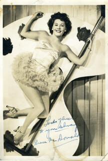 GRACE MCDONALD - AUTOGRAPHED SIGNED PHOTOGRAPH