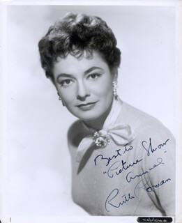 RUTH ROMAN - AUTOGRAPHED INSCRIBED PHOTOGRAPH