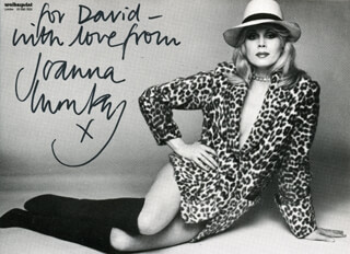 JOANNA LUMLEY - AUTOGRAPHED INSCRIBED PHOTOGRAPH