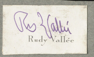 RUDY VALLEE - CALLING CARD SIGNED