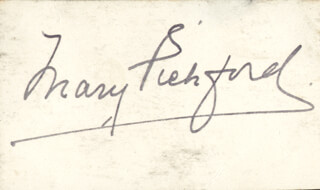 MARY PICKFORD - AUTOGRAPH