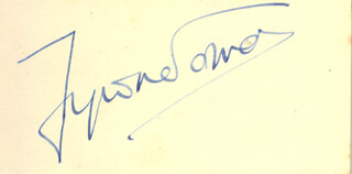TYRONE POWER - AUTOGRAPH