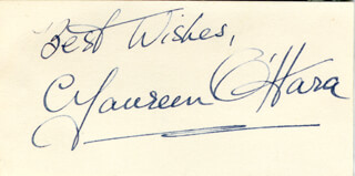 MAUREEN O'HARA - AUTOGRAPH SENTIMENT SIGNED