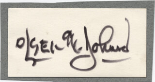 OLSEN & JOHNSON - AUTOGRAPH CO-SIGNED BY: OLSEN & JOHNSON (CHIC JOHNSON), OLSEN & JOHNSON (OLE OLSEN)