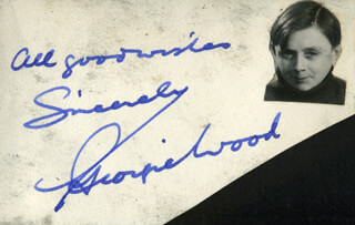 GEORGIE WOOD - AUTOGRAPH SENTIMENT SIGNED
