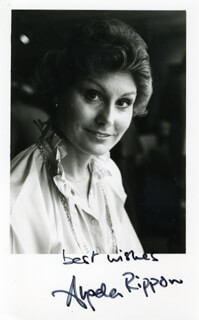 ANGELA RIPPON - AUTOGRAPHED SIGNED PHOTOGRAPH
