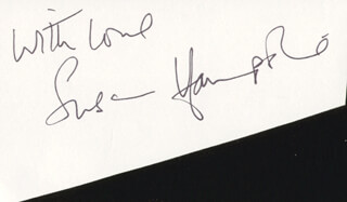 SUSAN HAMPSHIRE - AUTOGRAPH SENTIMENT SIGNED